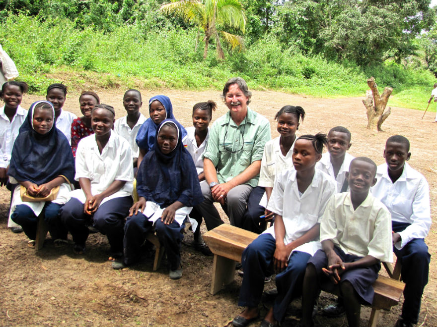Some of the girls, and boys, in the bursary program