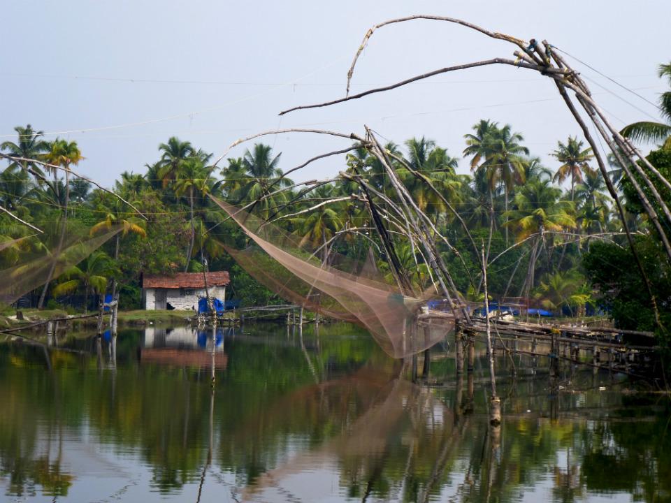 Chinese fishing nets near Cochi, southern India