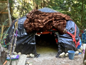 the sweat lodge